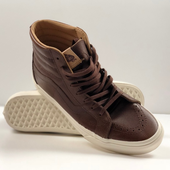 ec31c3cc90c84c Vans SK8- Hi Reissue Lux Leather Shaved Chocolate.